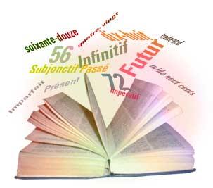 Livre ouvert des pages duquel s'échappent des règles d'orthographe